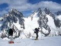 15582 - Aiguille d'Argentières - Couloir en Y - Massif du Mont-Blanc - Avril 2002
