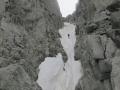 Descente en rappel sur le glacier du Nant Blanc