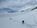 Longue remontée du Glacier de la Sassière