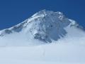 Le Fineil Spitze (3516m) que nous ne gravirons pas, le risque de plaques à vent étant important