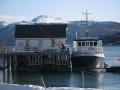 Mardi 20 mars, notre bateau au port de Hamnnes