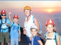 La dream-team vulcanologique, les garçons à gauche, les filles à droite et avé le casque s'il vous plait  !!!