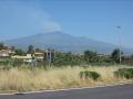 On reprend la route pour l'Italie et on aperçoit l'Etna et son panache
