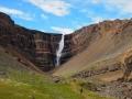 Randonnée à Hengifoss, troisième plus haute cascade d'Islande