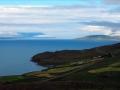 Depuis la route, le fjord  d'Akureyri
