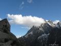 Le refuge du Glacier Blanc face au Pelvoux