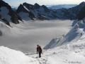 L'immense partie plate du Glacier Blanc