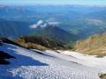 Pentes de neige dans l'axe du vallon de Teissonnière