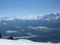 Du sommet de Côte Rouge, Le Dévoluy et le lac du Sautet