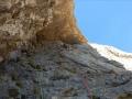 La 11ème longueur en mauvais rocher
