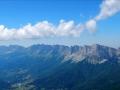 Le Mont Aiguille tout à gauche