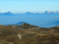 Une partie du domaine de la station de l'Alpe du Grand Serre sur fond du Massif de la Chartreuse