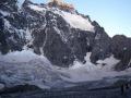 L'arête de Coste-Rouge marque le début du Glacier Noir.