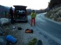 Sur la route des Grottes de Choranche, à l'aplomb du Triangle de Choranche