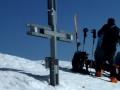 Photo de la croix sommitale du Breithorn prise en avril 2011 par Jean-Christophe