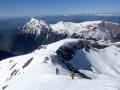 Depuis l'arète de Brouffier, vue sur le Tabor et la station de ski de l'Alpe du Grand Serre