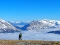 Le Col du Noyer et tout au fond le Massif de l'Ubaye