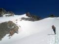 Approche du Râteau Ouest depuis le Glacier de la Girose