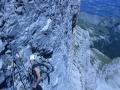 Au relais dans la grande dalle Dolomitique