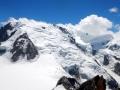 De gauche à droite : Mont-Blanc du Tacul, Mont Maudit, Mont-Blanc