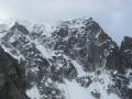 Vue sur le haut de l'Aiguille Sans Nom ou se déroule la voie Mohr Marsigny