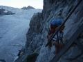 04250 - La petite poussée glaciaire de 1988 - Une échelle mettalique a été mis en place pour monter au refuge du Glacier