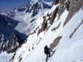 Descente du Whymper à skis pour Matthieu