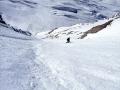 Et à reculons skis d'approche sur le sac pour moi !