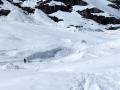 Le vallon ravagé par les avalanches
