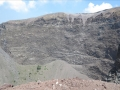 Le cratère du Vésuve pour le moment totalement inoffensif
