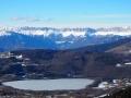 Le lac de Pierre-Châtel et la face est du Vercors