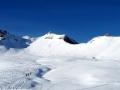 De gauche à droite : Soleil Boeuf, Vénasque Sud et Pic de Clot Lamiande