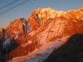 Lever du soleil sur le Mont-Blanc