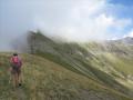 La longue arête qui mène au sommet