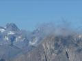A gauche les Rouies et la Pointe du Vallon des Etages. Tout à droite la Meije et ses arêtes