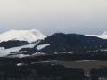 Au retour une belle lumière sur le Jocou et le Mont Barral dans le Vercors