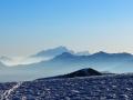 En arrière plan au centre : le Mont-Blanc