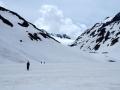 Et on retraverse le Grand Lac sur une neige ramollie...