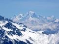 Mont-Blanc et Grandes Jorasses à droite
