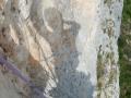 Auto-portrait dans la voie de la Grotte