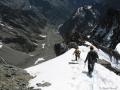 Tout en bas la moraine du Glacier Noir