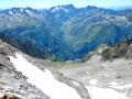 Le Glacier de l'Olan en versant Valgaudmar