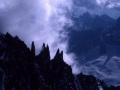 Photo des Aiguilles du Diable prise en 1998 depuis l'arête Kufner du Mont Mauditl.