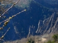 Le haut de l'arête du Trident vue de la route de Ponsonnas