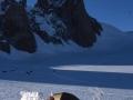 Bivouac en haut de la Mer de Glace